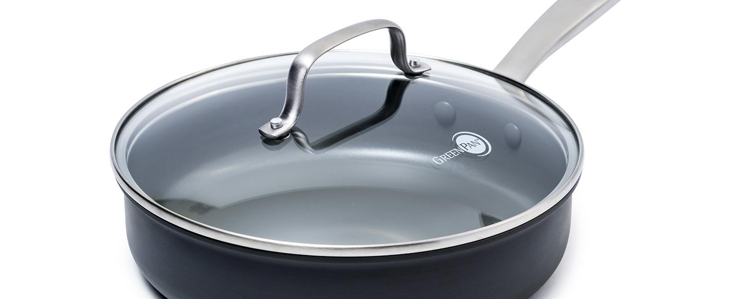 GreenPan, Chatham, Healthy Ceramic Non stick, glass lid, cookware set, saute pan, oven safe, pfoa