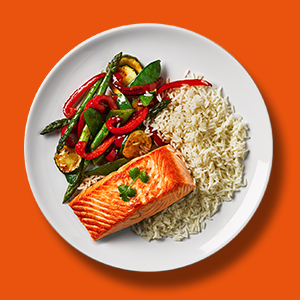 Salmon, convenient, easy meals, recipe, rice, vegetables, Uncle Ben's