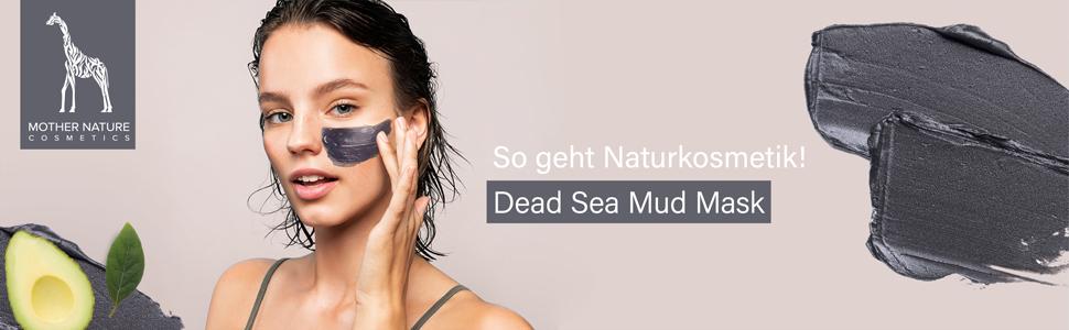 Mother Nature Cosmetics Naturkosmetik Hautpflege Gesichtspflege Gesichtsmaske Schlammmaske reinigend