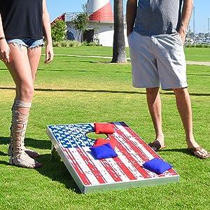 Amazon Com Gosports American Flag Cornhole Bean Bag Toss