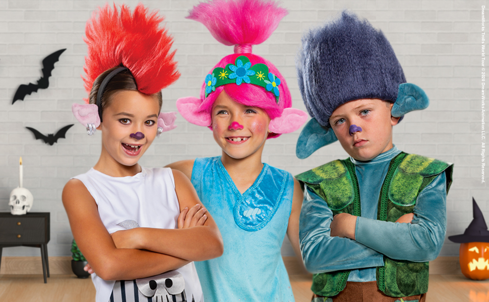 Trolls World Tour Costumes for All Ages this Halloween!