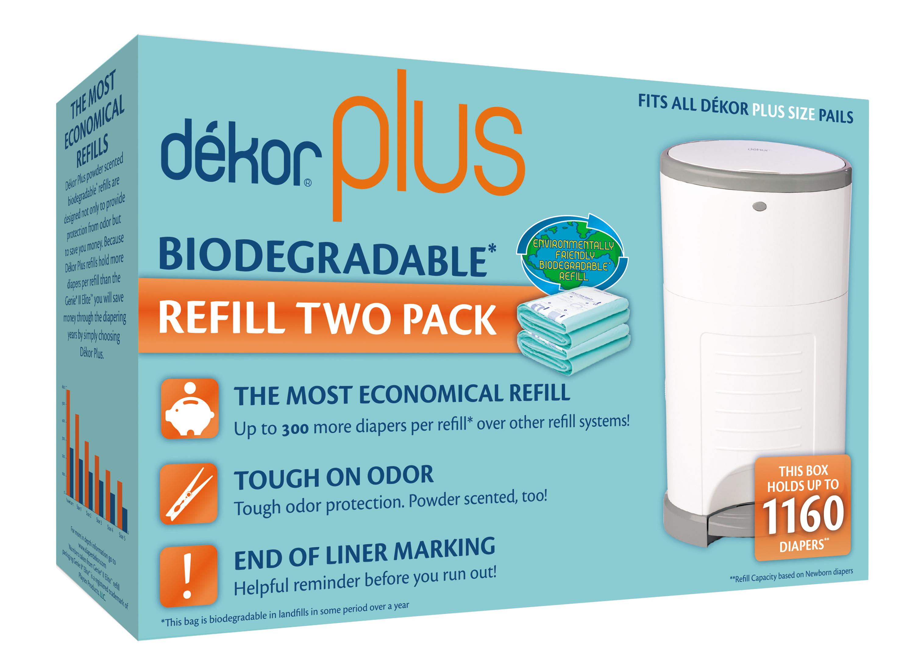 Dekor plus biodegradable refill two count baby for Dekor plus refills