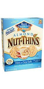 Nut-Thins Cracker Crisps, Hint of Sea Salt