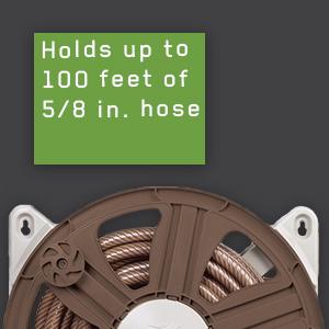 ames, tools, hose reel, side mount, leader hose, easy spin grip, ReelEasy, wall mount