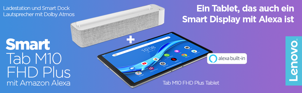 Lenovo Smart Tab M10 FHD Plus mit Amazon Alexa