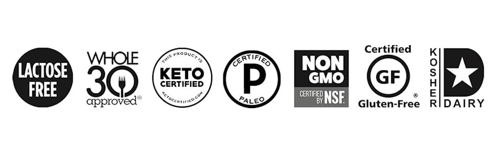 lactose free whole 30 keto paleo non-gmo gluten-free kosher