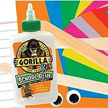 Gorilla School Glue liquid elmers washasable safe non toxic teacher supplies craft