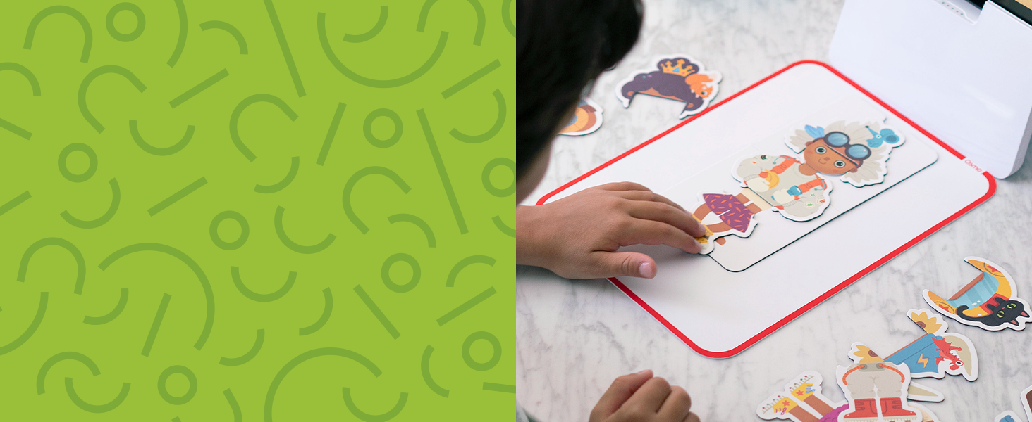 use amazing shapes and pieces with a tablet to learn - not passive learning active learning engage