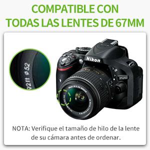 Neewer 10087416 - Kit Completo Filtro para lente de 52mm: Amazon ...