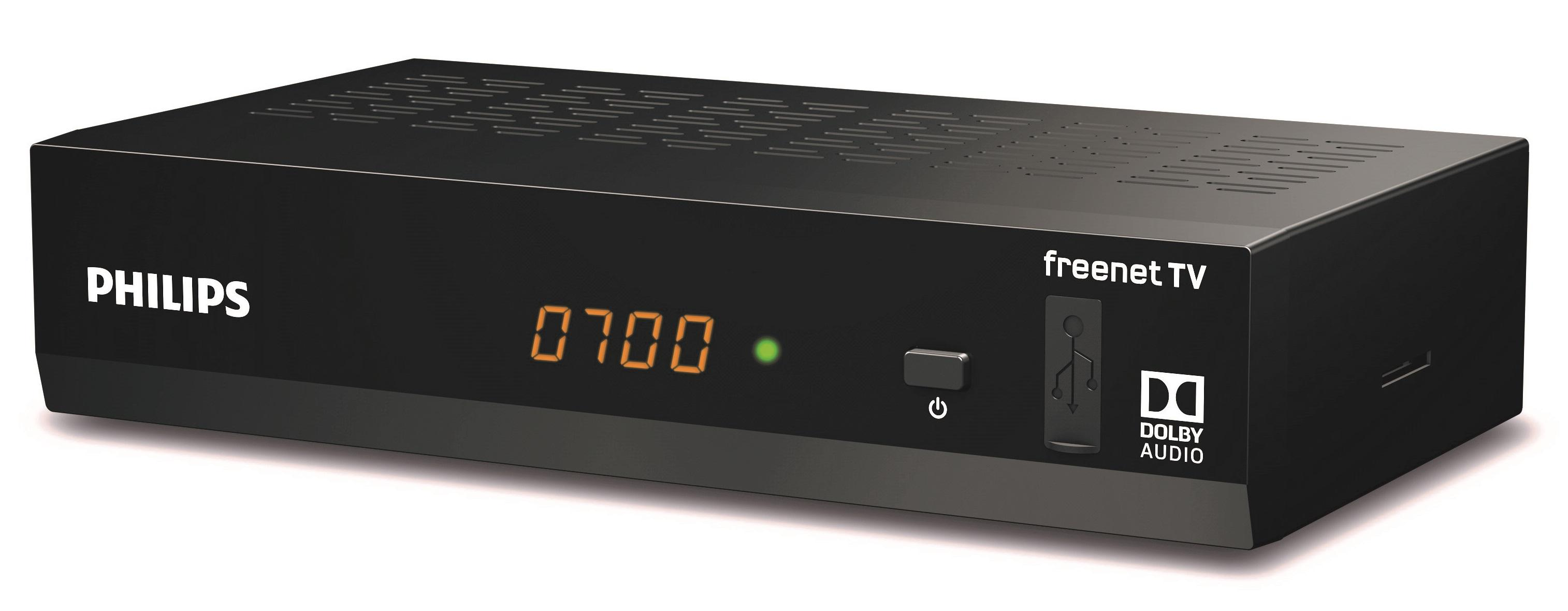 Philips DTR3502B digitaler DVB-T2 Full HD Receiver