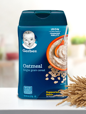 Gerber Single Grain Cereal has enough iron to help support healthy brain development