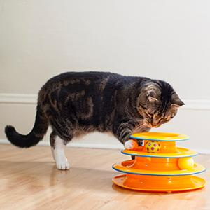 tower of tracks, petstages tower of tracks cat toys, cat toys, cat ball toys
