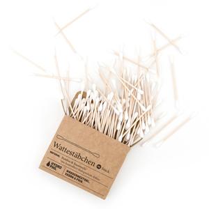 Wattestaebchen aus Biobaumwolle und Bambus