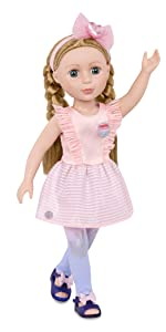 Emilia 14-inch doll Glitter Girls Battat posable doll clothes outfits accessories wellie wishers toy
