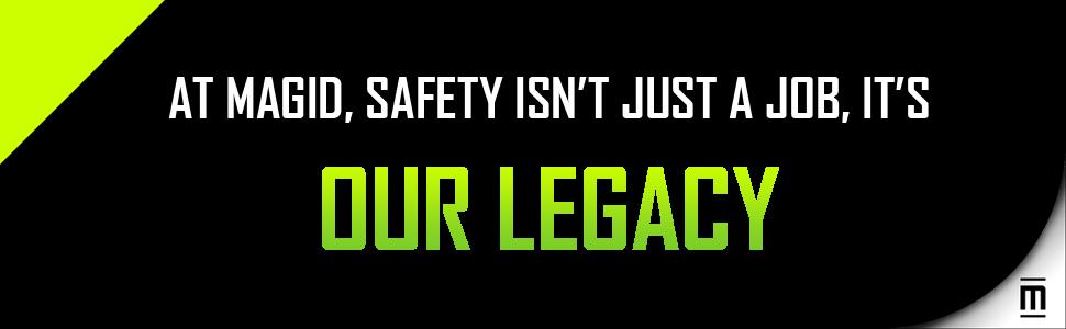 Magid, Safety, Job, Legacy, Green, Black, Footer