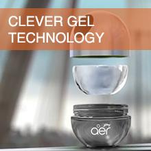 aer twist car dashboard air freshener no spill clever gel technology