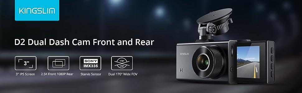 2k dual dash camera