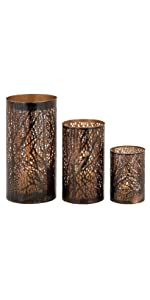 Deco 79 22098 Metal Candle Holders Set