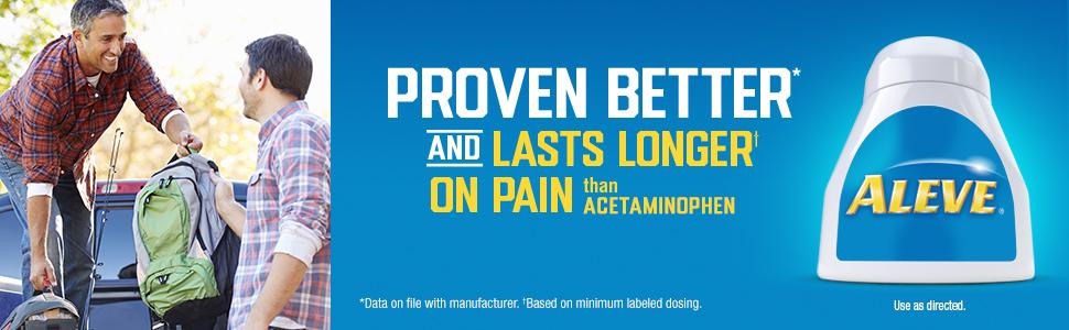 proven better lasts longer pain acetaminophen