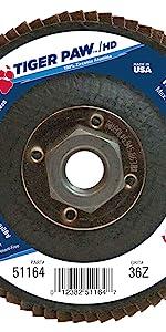 Weiler Tiger Paw XHD High Density Flap Disc
