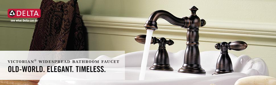 Delta Faucet Victorian 2 Handle Widespread Bathroom Faucet