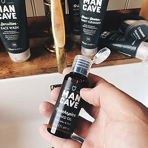 mancave blackspice beard oil