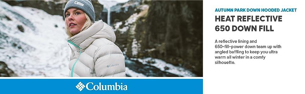 Columbia Women's Autumn Park Down Hooded Winter jacket