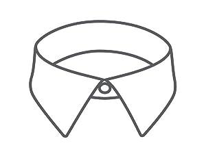 VH POPLIN pointed collar