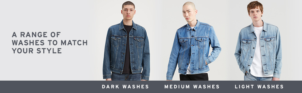 Levi's Denim Trucker Jacket Colors & Washes