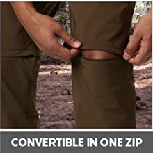 Convertible to shorts in one zip