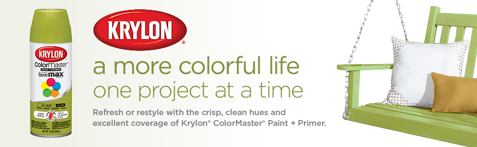 A more colorful life, one project at a time. Refresh, restyle with Krylon ColorMaster paint + primer