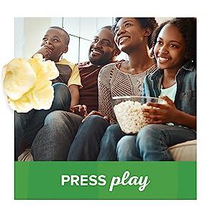 Enjoy movie night with Orville Redenbacher's SmartPop! 94% fat free popcorn