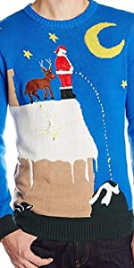 funny santa sweater, ugly christmas sweater for men, mens ugly christmas sweater, fun santa sweater