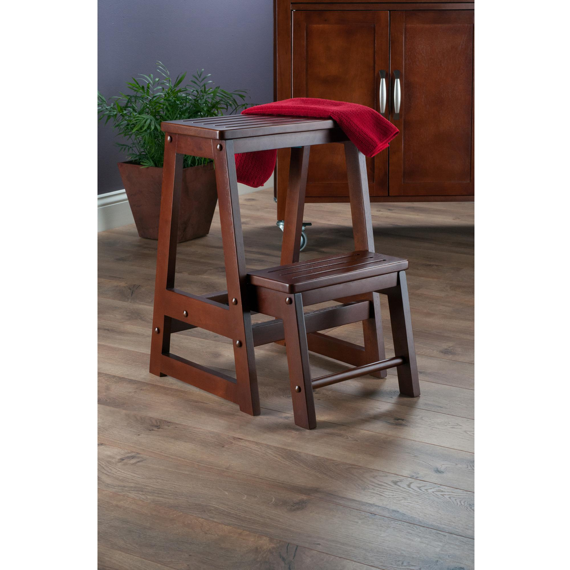 Winsome Wood Step Stool Antique Walnut Amazon Home & Kitchen