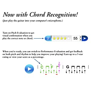 chord recognition software, interactive guitar lesson