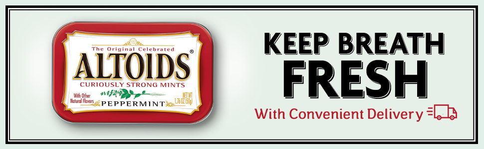 Keep breath fresh with convenient delivery of ALTOIDS Breath Mints.
