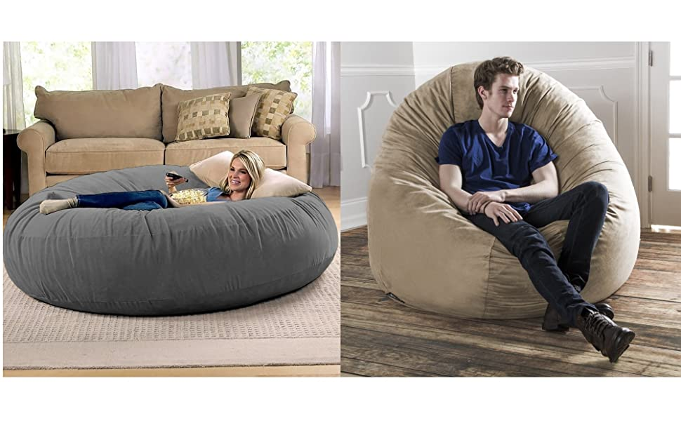 Jaxx 6 Foot Cocoon - Large Bean Bag Chair for Adults