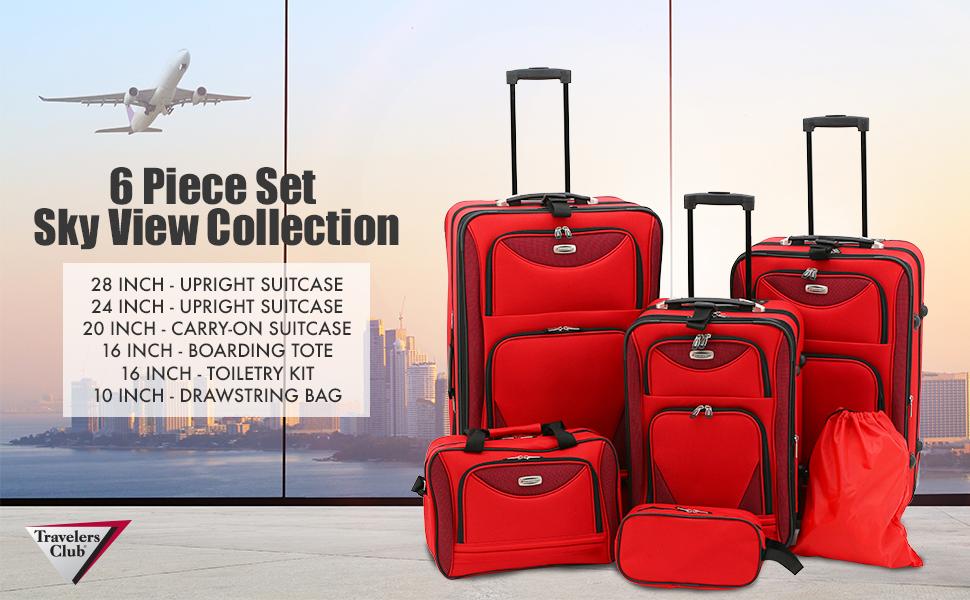 Travelers Club Skyview Luggage Set