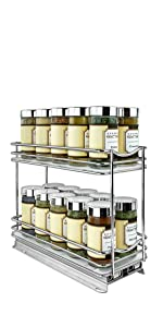 Lynk #430422DS_1 PROFESSIONAL Roll Out Spice Drawer 2 Tier
