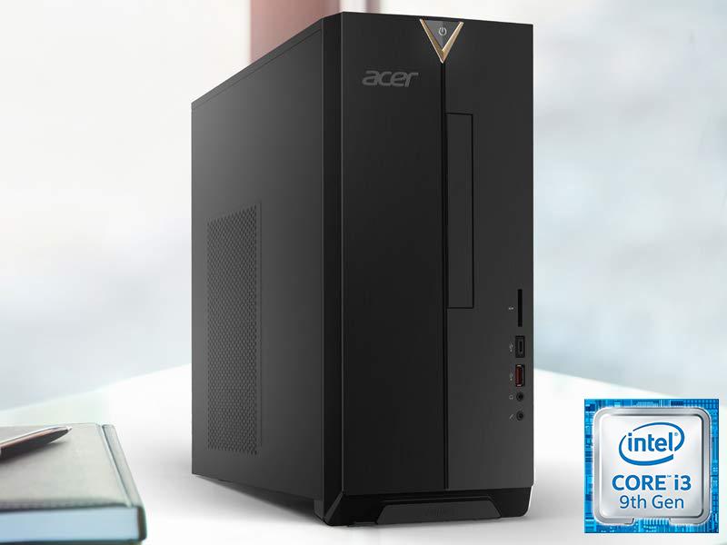 Acer Aspire TC-885-UA91 Desktop, 9th Gen Intel Core i3-9100, 8GB DDR4, 512GB SSD, 8X DVD, 802.11AC Wifi, USB 3.1 Type C, Windows 10 Home