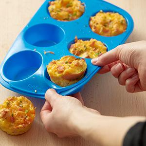 Wilton, Easy Flex Silicone Muffin Pan, egg cups recipe, breakfast