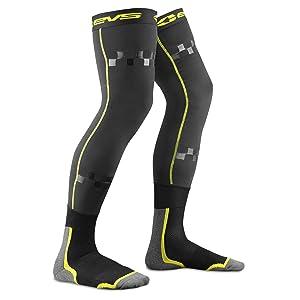 Black//Hi-Viz, L//XL EVS Sports Fusion Socks Combo