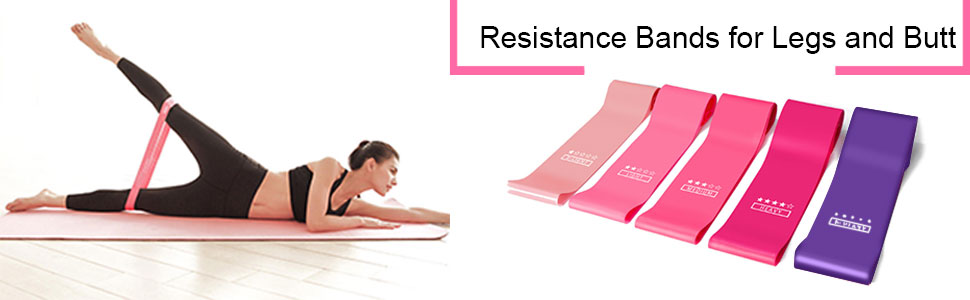Natural Latex Workout Bands. Strength Training Physical Therapy Crossfit Resistance Bands -Victoper Resistance Bands for Legs and Butt Exercise Bands Stretching Macaron Colored Home Fitness