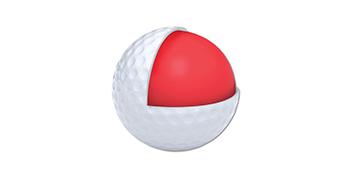 2 piece construction golf ball white matte finish distance performance bright zero friction spectra