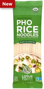 Lotus foods Organic Traditional Pho Rice Noodles
