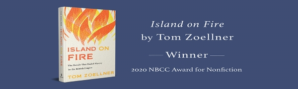 Island on Fire book image and National Book Critics Circle Award for Nonfiction notation