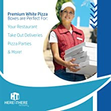 Pizza boxes, pizza box, takeout; takeout container