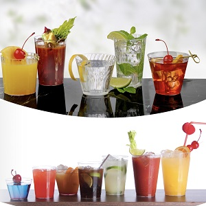 plastic glasses;disposable;tumblers;party cups;clear