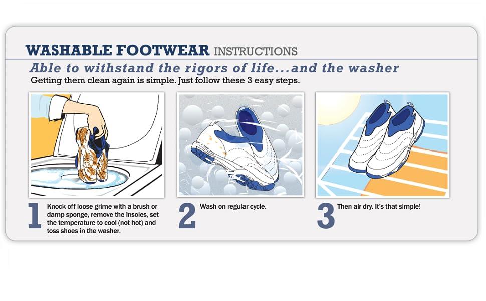 wash instructions; care instructions; washable shoe