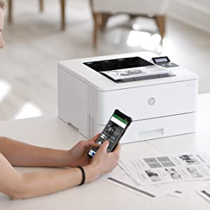 HP Laserjet Pro M404dn - Impresora Láser Monocromo (A4 Negro, hasta 38 ppm, de 750 a 4000 Páginas al Mes, 1 USB 2.0 de Alta Velocidad, 1 USB Host, 1 ...